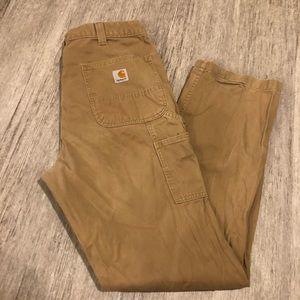 Carharrt relaxed fit khaki pants 36X32 tan